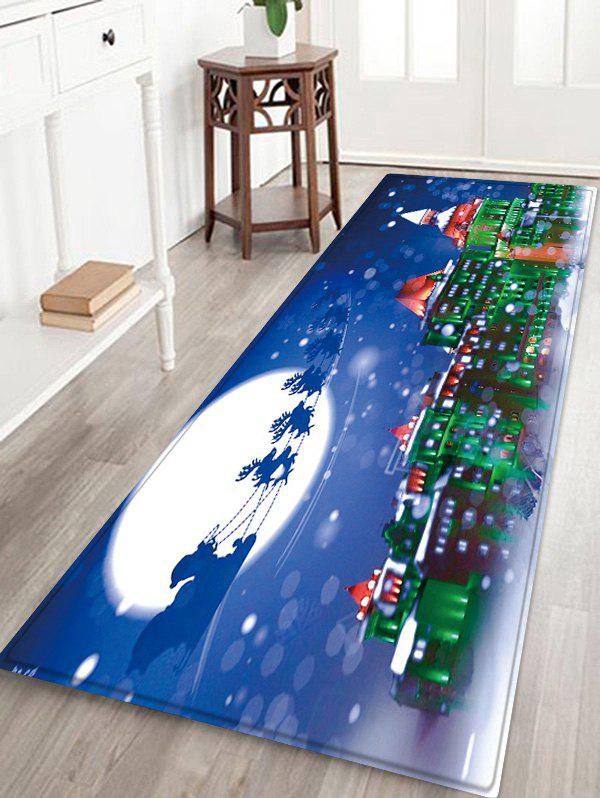 Shop Christmas Night City Pattern Water Absorption Area Rug