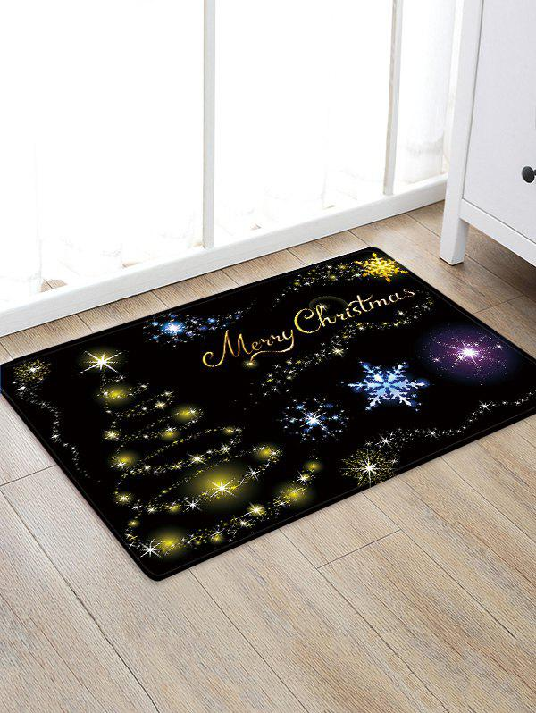 Outfits Christmas Star Tree Pattern Water Absorption Area Rug