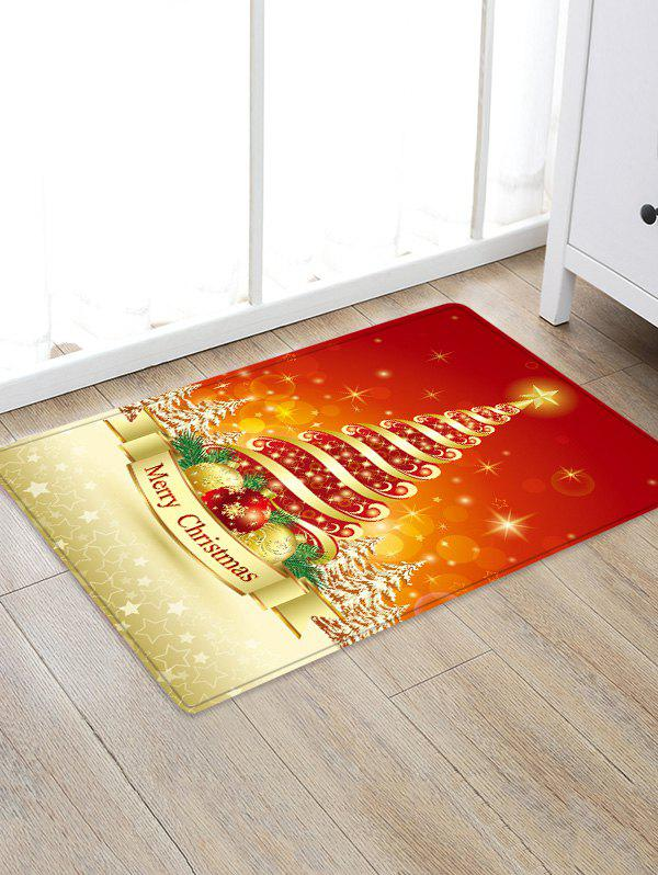 Latest Christmas Tree Balls Pattern Water Absorption Area Rug