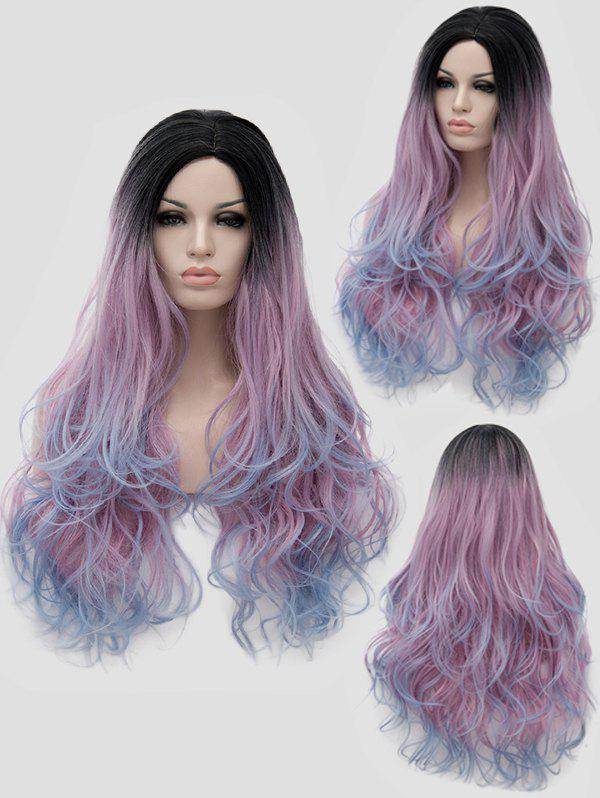 Shops Long Side Parting Colormix Wavy Party Synthetic Wig