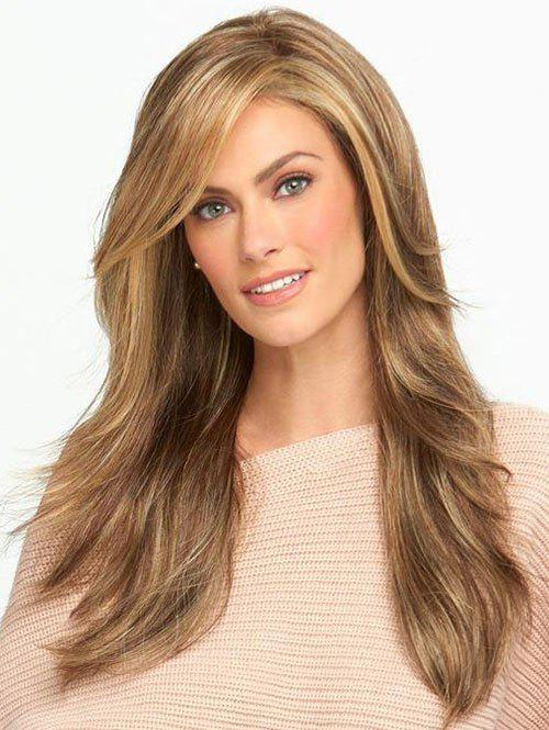 Shop Long Inclined Bang Colormix Straight Synthetic Wig