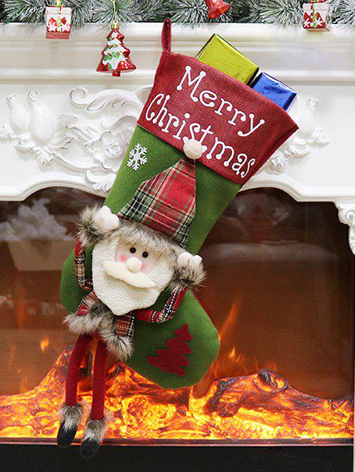 Shops Merry Christmas Theme Santa Claus Pattern Stocking Decoration