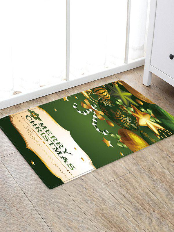 Shops Merry Christmas Ornaments Pattern Water Absorption Area Rug