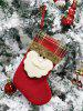 Christmas Theme Santa Claus Hanging Stocking Decor -