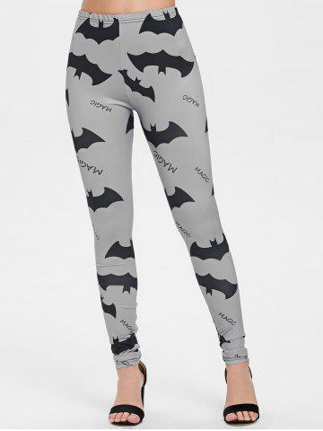 Halloween Bats and Letters Print Leggings