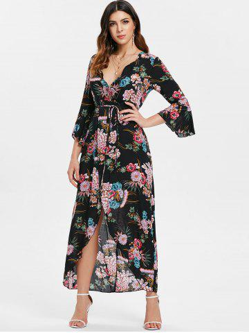 Black Plunge Neck Maxi Dress - Free Shipping 4d5b14a19