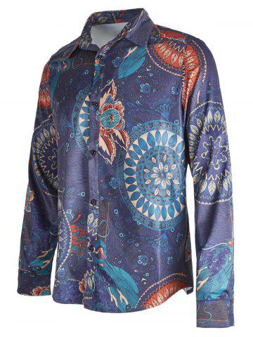 Ethnic Floral Printed Casual Shirt