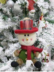 Christmas Theme Sitting Snowman Hanging Decor Doll -