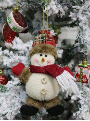 Christmas Theme Snowman Hanging Decor Doll -
