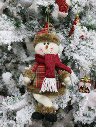 Christmas Theme Snowman Shaped Hanging Decoration Gift Doll -