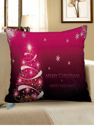 Merry Christmas Snowflake Tree Decorative Linen Pillowslip -