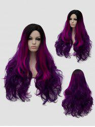 Long Side Parting Colormix Wavy Party Cosplay Wig -
