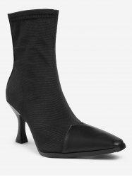 Strange Heel Pointed Toe Ankle Boots -