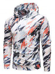 Colorful Camo Printed Casual Hoodie -