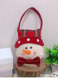 Christmas Theme Snowman Decor Candy Bag -