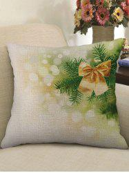 Gift Bowknot Print Decorative Linen Pillowcase -