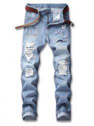 Ripped Patchwork Nine Minutes of Jeans -