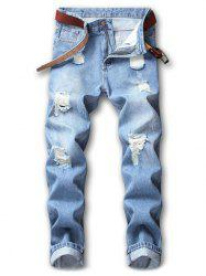 Hole Ripped Casual Distressed Nine Minutes of Jeans -