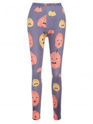 Halloween Cartoon Pumpkins Print Outdoor Pants -