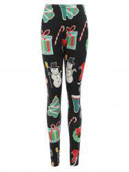 Christmas Print Bodycon Leggings -
