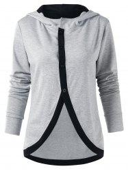 Single Breasted Tulip Front Hoodie -