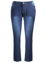 High Waist Plus Size Skinny Jeans -