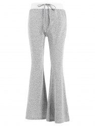 Color Block Casual Flare Pants -