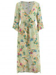 High Slit Floral Maxi Dress -