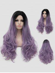 Long Side Parting Gradient Wavy Party Lolita Wig -