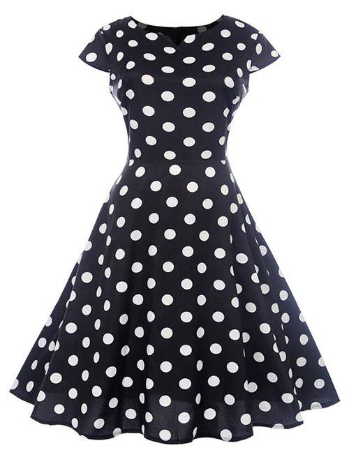 Affordable Retro Polka Dot High Waist Dress