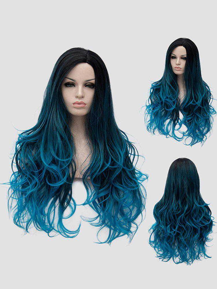 Chic Long Side Parting Colormix Wavy Synthetic Anime Cosplay Wig
