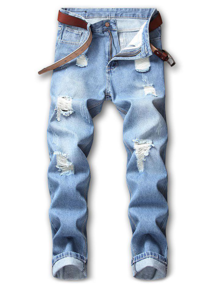 Outfits Hole Ripped Casual Distressed Nine Minutes of Jeans