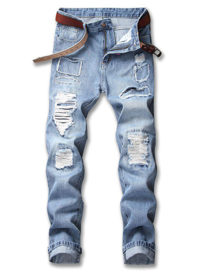 Buy Ripped Patchwork Nine Minutes of Jeans