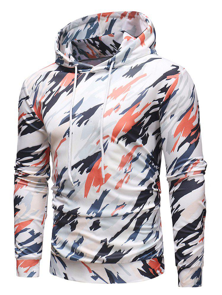 Affordable Colorful Camo Printed Casual Hoodie