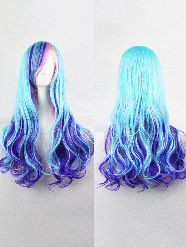 Outfit Long Side Bang Colorful Wavy Lolita Synthetic Wig