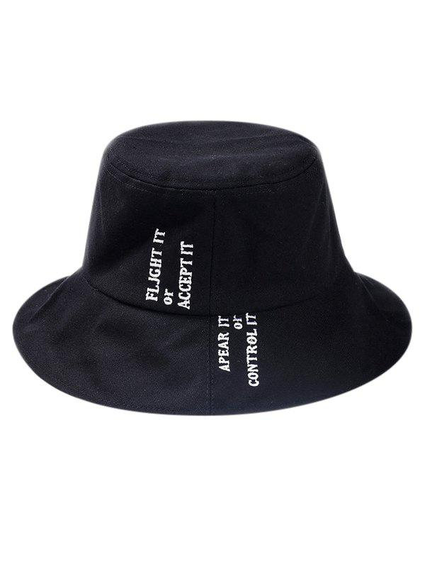 92491d34927 2019 Solid Color Letter Embroidery Bucket Hat