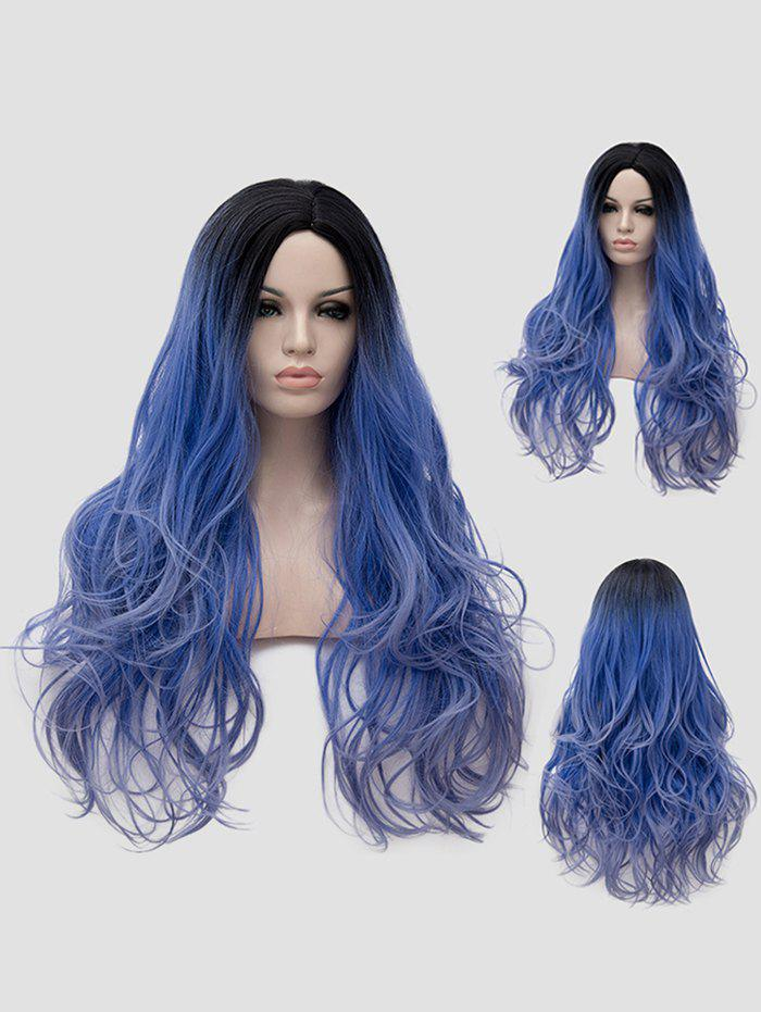 Trendy Long Side Parting Ombre Wavy Synthetic Anime Cosplay Wig