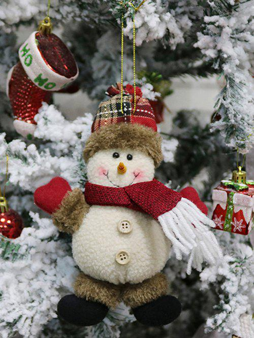 Fancy Christmas Theme Snowman Hanging Decor Doll