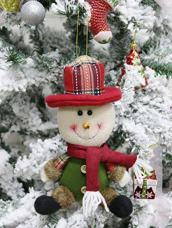 Sale Christmas Theme Sitting Snowman Hanging Decor Doll