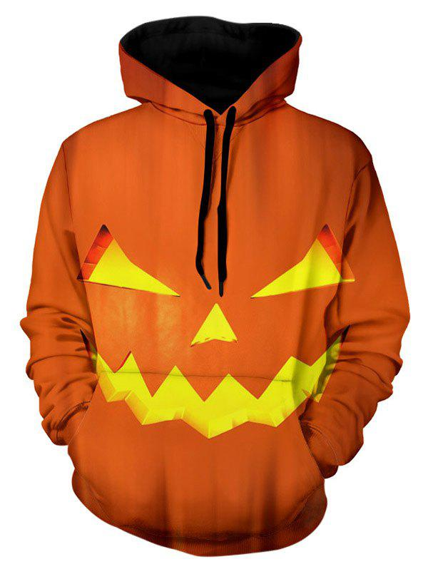 Fashion Pumpkin Lamp Inspired Pullover Hoodie