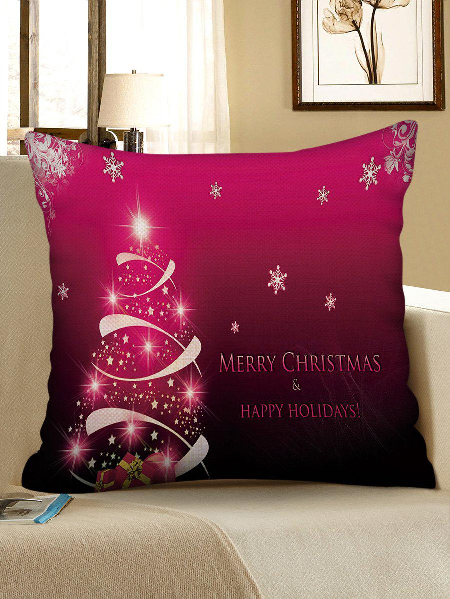 Store Merry Christmas Snowflake Tree Decorative Linen Pillowslip