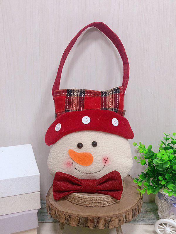 Shops Christmas Theme Snowman Decor Candy Bag