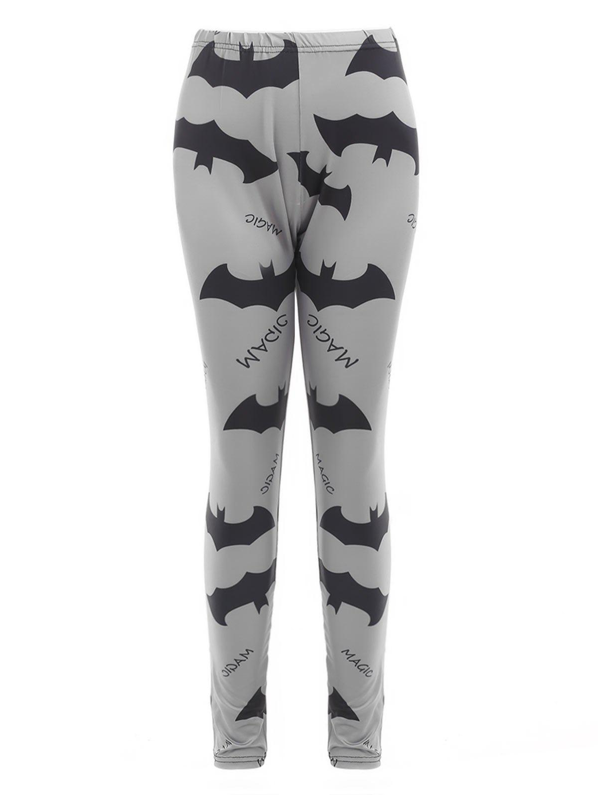 Buy Halloween Bats and Letters Print Leggings