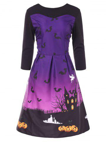 Vintage Halloween Pin Up Dress