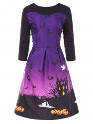 Vintage Halloween Pin Up Dress -