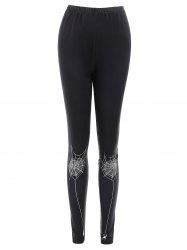 Spider Web Print Slim Fit Leggings -