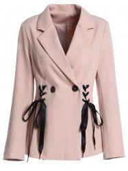 Lace Up Two Button Blazer -