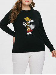 Plus Size Graphic Slim Fit Sweater -