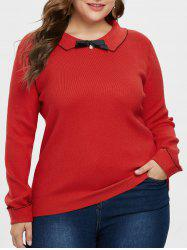 Plus Size Peter Pan Collar Sweater -