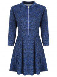 Three Quarter Sleeve Fit and Flare Dress -